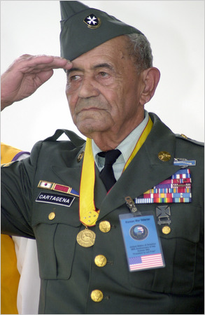 Sergeant cartagena received the distinguished service cross go here