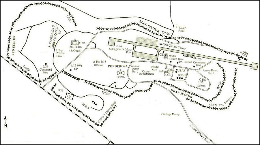 Detailed Map Of The Khe Sanh Combat Base